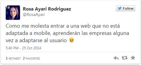 Tweet de Rosa Ayari